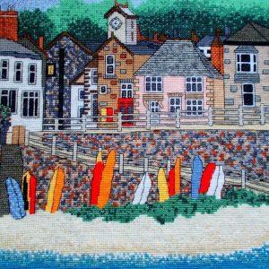Mousehole cross stitch Cornwall
