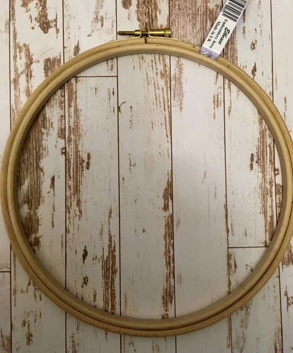 wooden cross stitch hoop
