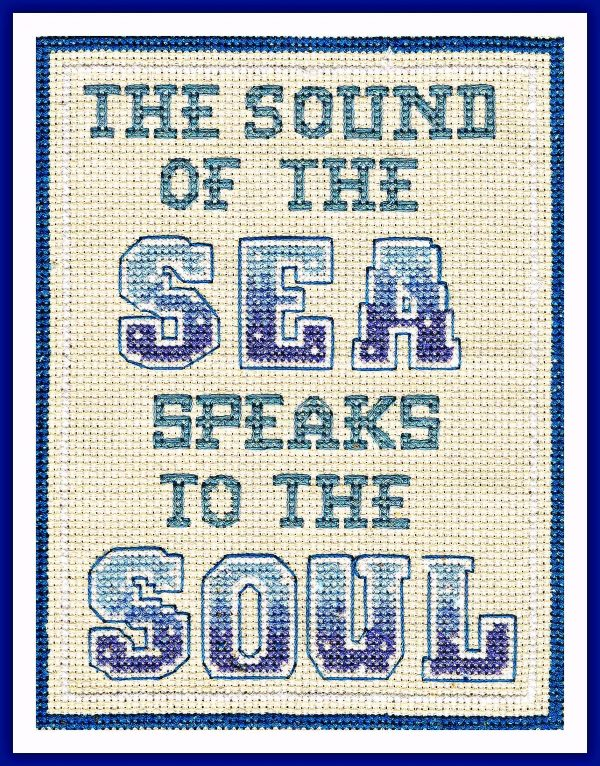 Sound of the sea nautical cross stitch kit