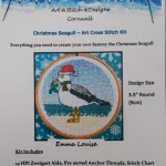 Christmas seagull cross stitch kit