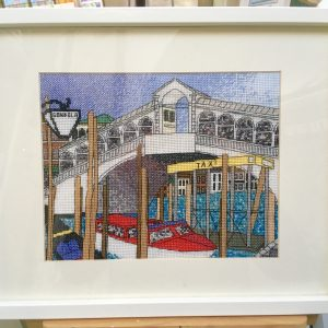Rialto bridge Venice cross stitch kit