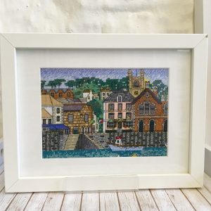 Fowey Harbour Cross stitch Cornwall