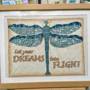 Dragonfly cross stitch kit