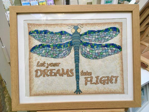 Dragonfly cross stitch kit