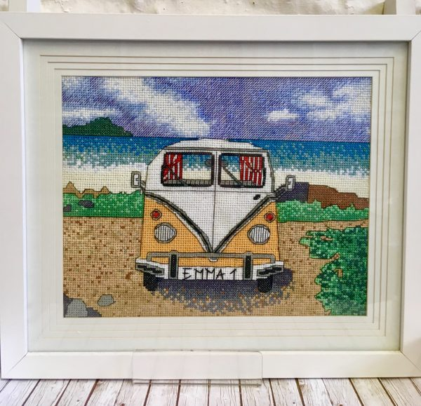 Campervan cross stitch kit at newquay