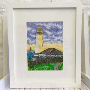 Trevose head lighthouse cross stitch kit