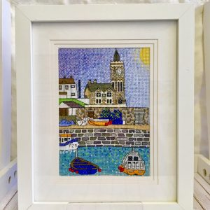 Porthleven harbour cross stitch kit