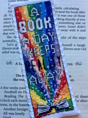 Book a day cross stitch bookmark kit