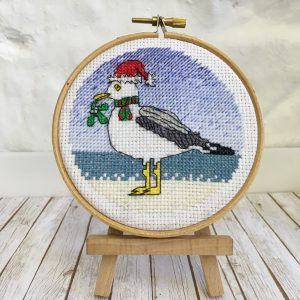 Seagull Christmas cross stitch kit