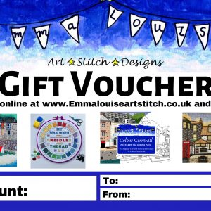 Cross stitch gift voucher
