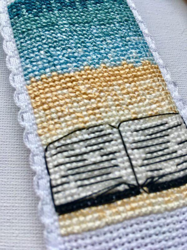 Shhh Beach Bookmark Cross Stitch Kit - Counted Cross Stitch Bookmark kit