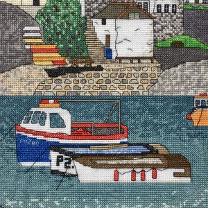 Coverack Cornwall cross stitch kit