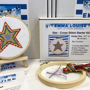 star cross stitch kit beginner