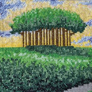 Nearly home trees cross stitch kit