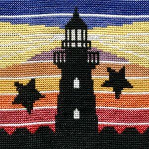 Retro Lighthouse Cross Stitch Kit