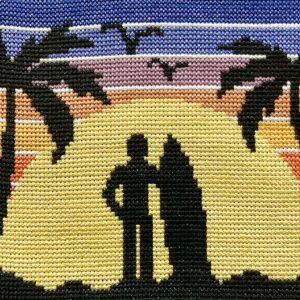 Retro Surf Beach Cross Stitch Kit