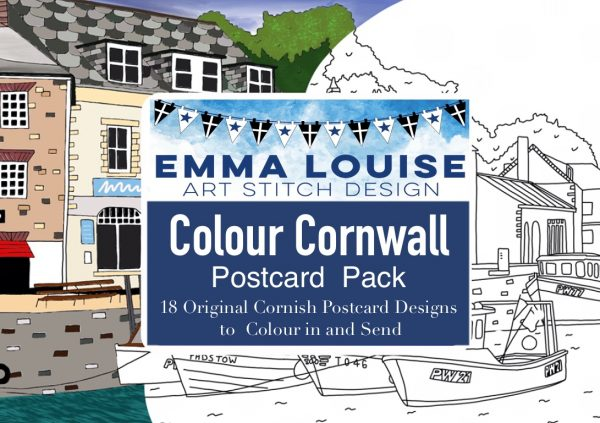 Cornwall Colouring Postcards